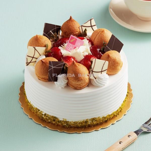 香草鮮奶油蛋糕-水果C *限門市自取*