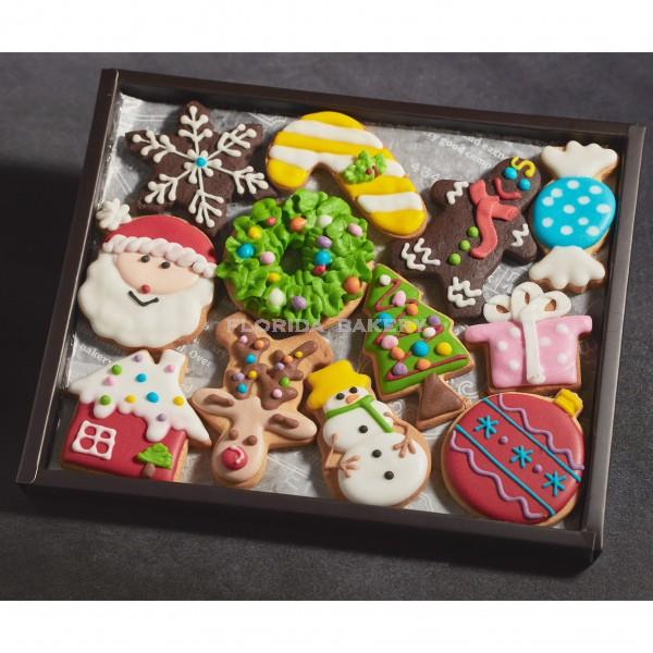 聖誕彩繪餅乾禮盒-12片