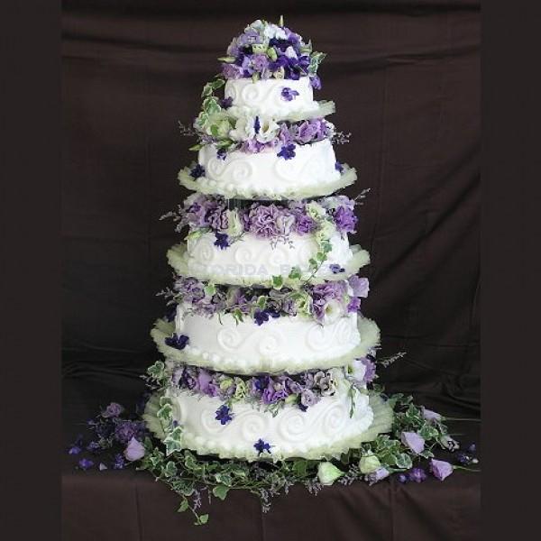 鮮花五層藝術蛋糕