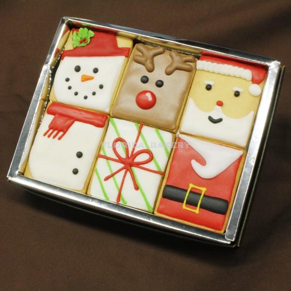 聖誕彩繪餅乾-方形六入禮盒