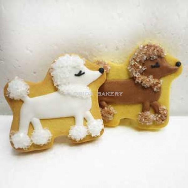 彩繪餅乾-貴賓狗