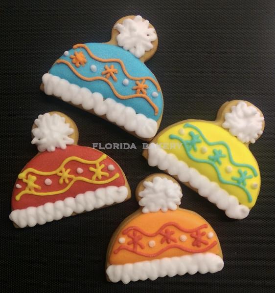 聖誕彩繪餅乾-聖誕帽