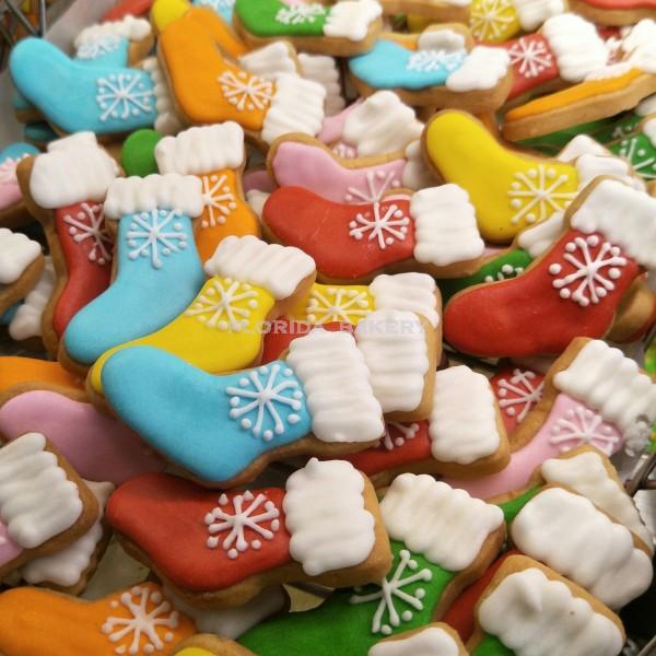 聖誕彩繪餅乾-聖誕彩色襪
