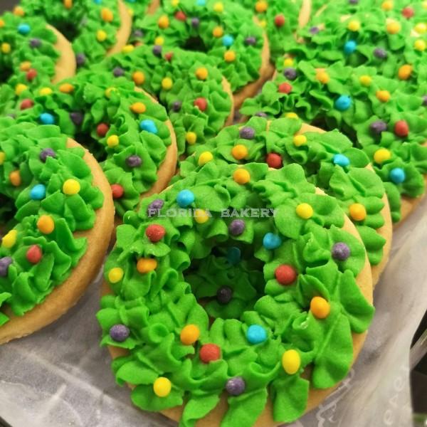 聖誕彩繪餅乾-花圈