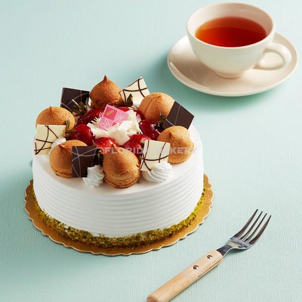 "6"" Vanilla Whipping Cream Cake-C *Store Pickup Only*"