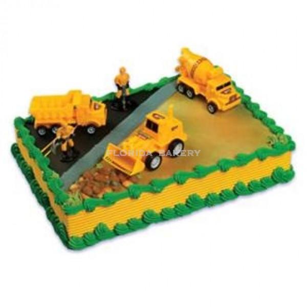 Construction Vehicle Cake Kit