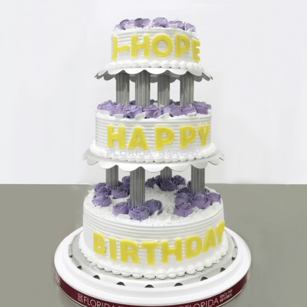 3 TIER DECORATED CAKE