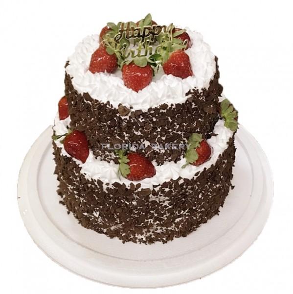 雙層藝術蛋糕-黑森林