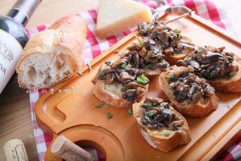 鯷魚奶油—鯷魚奶油蘑菇佐法棍
